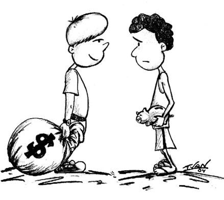 Resultado de imagen de alumno pobre y alumno rico